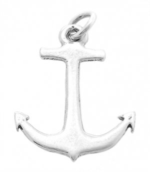 Sterling Silver Large Faith Anchor Charm/Pendant