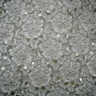 """Beaded Lace Fabric 50"""" wide, 2 yards, bridal chic victorian shabby french"""