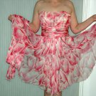 Pink Chiffon dress, vintage fairy like, size 8/10 roughly