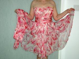 Pink Chiffon dress, vintage fairy like, size 8/10 roughly