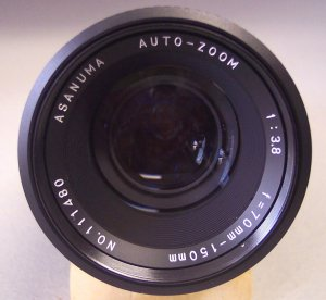 Pentax Asanuma 70-150mm  1: 3.8  Auto Zoom Lens with Case