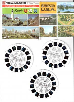 Gaf ViewMaster Scenic USA   A996  - 3 Reel Pack Stereo Pictures
