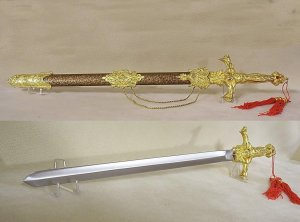 "Golden Ram 24"" Presentation Sword"