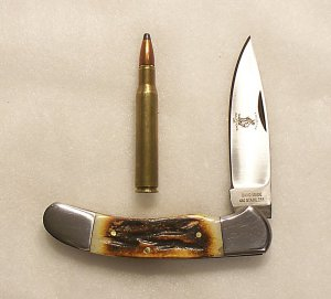 Handmade Stainless @ Bone Folding Pocket Purse Knife