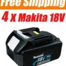 4 Pieces ★ Makita BL1830 18V 3.0 Ah 18Volt Li-Ion Battery Pack - USD 165.00 Free Shipping!