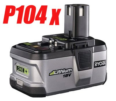 4 PC � RYOBI 18V P104 Lithium-Ion Battery ONE+ Powerful - USD 161.00 Free Shipping!