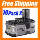 10 PC ★ RYOBI 18V P104 Lithium-Ion Battery ONE+ Powerful - USD 369.00  Free Shipping!