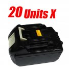20 Units x Makita 18 v lithium-ion battery BL1830 NEW - 899.00 USD TOTAL Free Shipping!