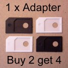 One MicroSIM Adapter to standard SIM - Micro 3FF -2FF Card Converter BUY 2 GET 4