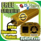 Hydroponic Ultra Grow 600W E-Ballast, Dimmable