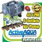 Hydroponic**Commercial Air Pump with 6 outlets, 45L per minute**4 DWC Systems**