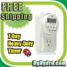 Heavy Duty Hydroponic 7 day grounded programmable timer.
