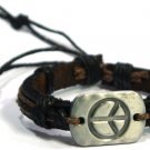 Peace Leather Surfer Bracelet