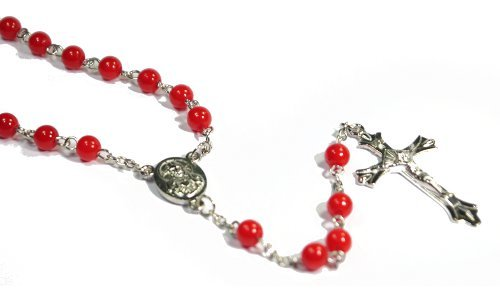 Red Pearl Fashion Rosary Necklace