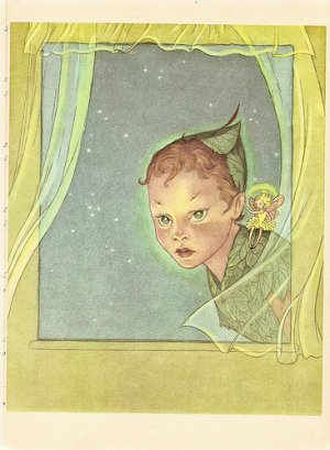 Peter Pan, Vintage Print, The Boy Who Never Grew Up
