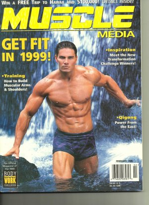 Muscle Media Magazine, Build Arms & Shoulders, February 1999, Back Issue; FREE SHIPPING!