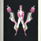 Erté Alphabet, Vintage Illustration, Letters W and Y, Reverse Side; Art, Design, Typography Print