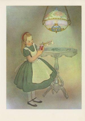Alice in Wonderland, Vintage Prints, Set of 3; Antique Fairy Tale Illustrations, Children's Fantasy
