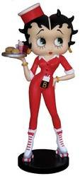 Betty Boop Rollerskate Waitress Figure