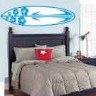 kids teen boy or girl surfboard Removable vinyl wall decal nursery sticker mural