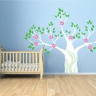 Kids tree vinyl wall decal magical Winter white tree with flowers