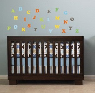 Kids Letters of the Alphabet abc can do it in any colors A-Z removable nursery vinyl wall decal