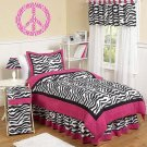 Kids Peace sign vinyl wall decal Zebra print pink n white can make any color