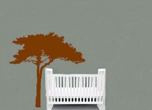 Kids and everyone vinyl wall decal brown safari Tree