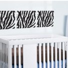 set of 3 Square panels Zebra Pattern vinyl wall decal