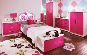 Kids Vinyl wall decal Headboard monogram initial or name Polka dots with owls