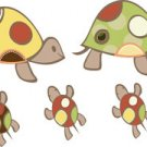 Kids childrens vinyl wall decal turtles set of 10 Great for any nursery