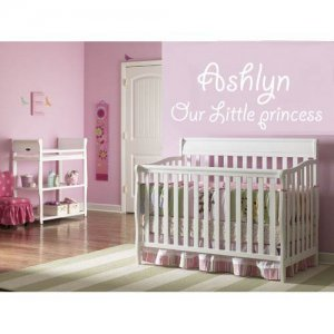 Kids vinyl wall decal our little princess Cute wall art for any nursery or child room