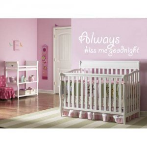 Kids vinyl wall decal Always kiss me goodnight Cute wall art for any nursery or child room