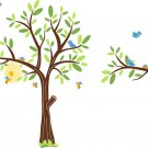 Kids vinyl wall decal Tree with a tree branch set with birds bee hive and bumble bees