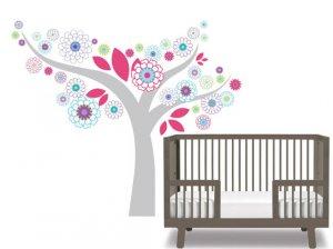 Kids teen children's flower tree vinyl wall decal