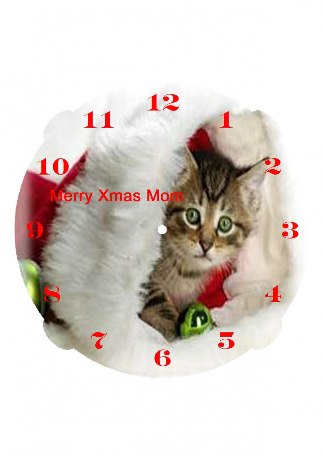 The Have a very Merry Christmas clock