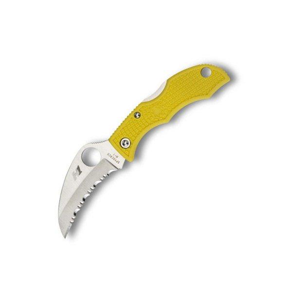 Spyderco Ladybug3 Yellow FRN H-1 Hawkbill LYLS3HB