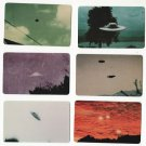 RARE UFO Phone Card Set Of 6 Flying Saucers Photos Billy Meier Unused Aliens
