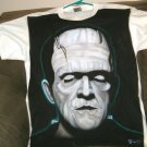 Custom Airbrushed Frankenstein Shirt Beautiful Large Karloff Monster Horror Goth