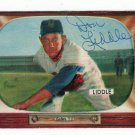 Don Liddle SIGNED 1955 Bowman Card Giants Braves Cardinals  Baseball