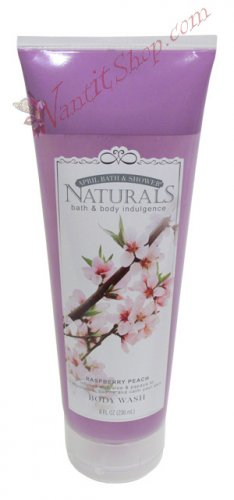 Bath & Body Indulgence BODY WASH Raspberry Peach 8fl oz (236 mL)