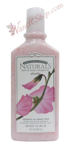 Bath & Body Indulgence BODY SCRUB Essence of Sweet Pea 10fl oz (295 mL)