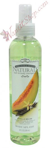 Bath & Body Indulgence BODY SPLASH Vanilla Melon 8fl oz (236 mL)