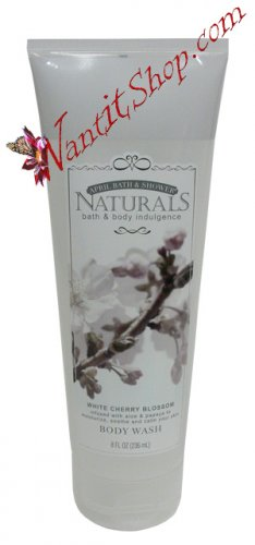 Bath & Body Indulgence BODY WASH White Cherry Blossom 8fl oz (236 mL)