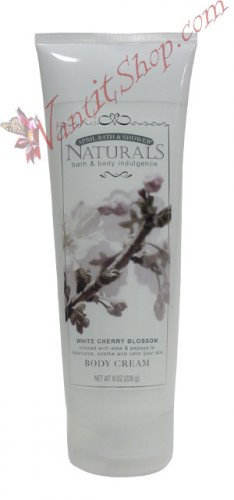 Bath & Body Indulgence BODY CREAM White Cherry Blossom 8fl oz (226 g)