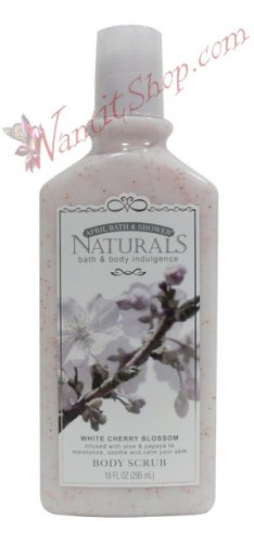 Bath & Body Indulgence BODY SCRUB White Cherry Blossom 10fl oz (295 mL)