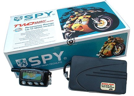 Motorcycle Alarm w/LCD Pager & Microwave Proximity Sensor