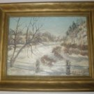ORIGINAL OIL ON TEXTURED BOARD SIGNED S.B. HATCH DATED 1946!