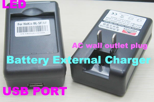 External Battery Charger Cradle for Nokia BL-5F BL-6F N96 N95 N78 N79 N95