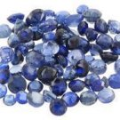4 BLUE SAPPHIRE ROUND CUT GEMSTONES 1-2mm - FREE SHIPPING